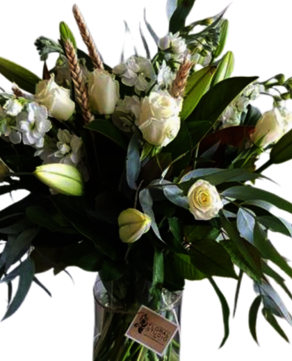 White Flowers in Vase - Flowers Auckland