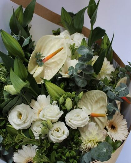 Designers Choice White Flowers - White Lilies | White Roses | White Flowers | Auckland Flower Delivery
